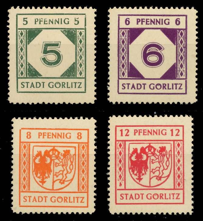 LOKAL-AUSG 1945 GÖRLITZ Nr 13-16 postfrisch 80F2BA