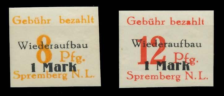 LOKAL AUSG 1945 SPREMBERG Nr 7B-14B postfrisch 80F2D2