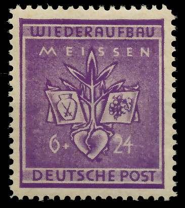 LOKAL-AUSG 1945 MEISSEN Nr 36A postfrisch ungebraucht 80F35E