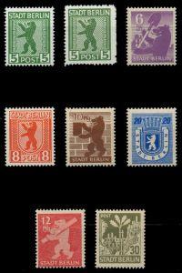 SBZ BERL. BRANDENB. Nr 1A+B-7A postfrisch 81034E