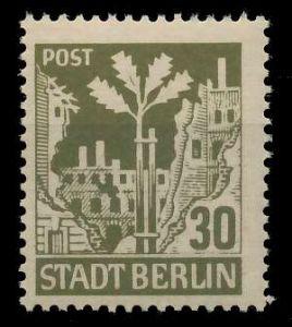 SBZ BERL. BRANDENB. Nr 7Aawaz postfrisch 8104F2