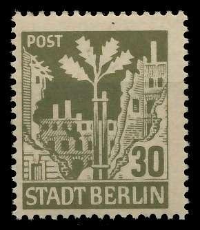 SBZ BERL. BRANDENB. Nr 7Aawaz postfrisch 8114DA