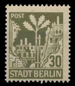 SBZ BERL. BRANDENB. Nr 7Aawaz postfrisch 8114EA