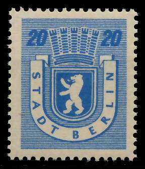 SBZ BERL. BRANDENB. Nr 6Awaz postfrisch 8114FA