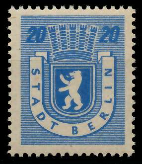 SBZ BERL. BRANDENB. Nr 6Awaz postfrisch 8114FE