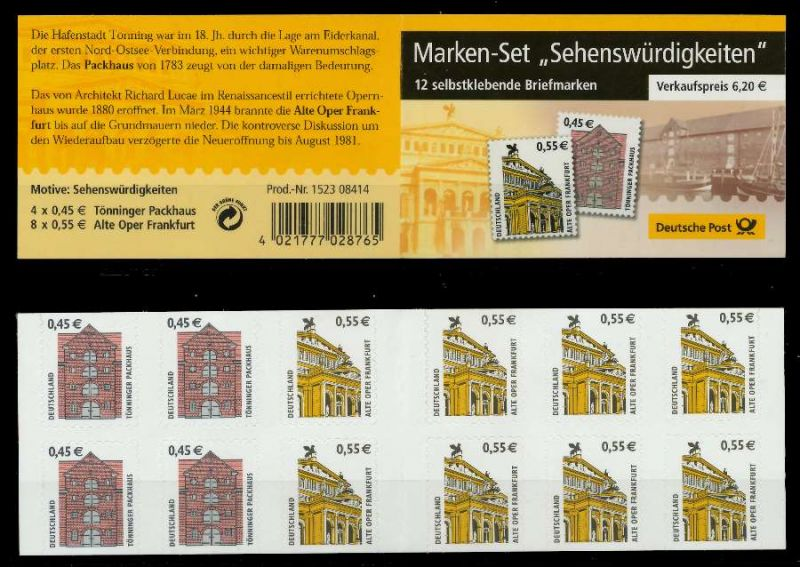 BRD MARKENHEFTCHEN Nr MH50aBI postfrisch MH S638552