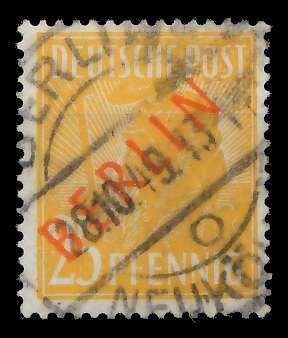 BERLIN 1949 Nr 27 zentrisch gestempelt 818CCE