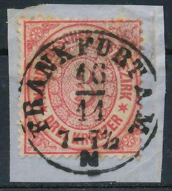 NDP Nr 21-FRANKFURT A.M. zentrisch gestempelt Briefst³ck 818D4E