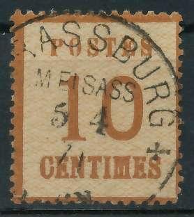 NDP ELSASS LOTHR Nr 5Id zentrisch gestempelt gepr. 818D62