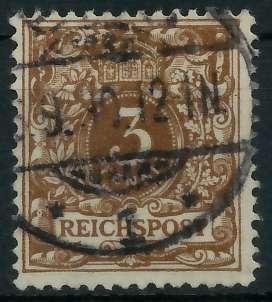 D-REICH KRONE ADLER Nr 45a gestempelt gepr. 818E46