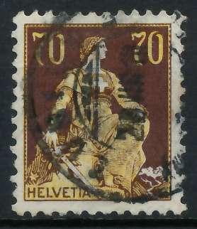 SCHWEIZ 1908 Nr 108 gestempelt 818E66