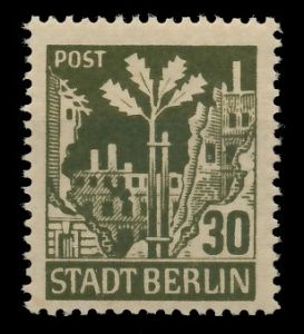 SBZ BERL. BRANDENB. Nr 7Abwaz postfrisch gepr. 8192EA