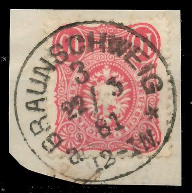 D-REICH KRONE ADLER Nr 41a zentrisch gestempelt Briefst³ck 81931E