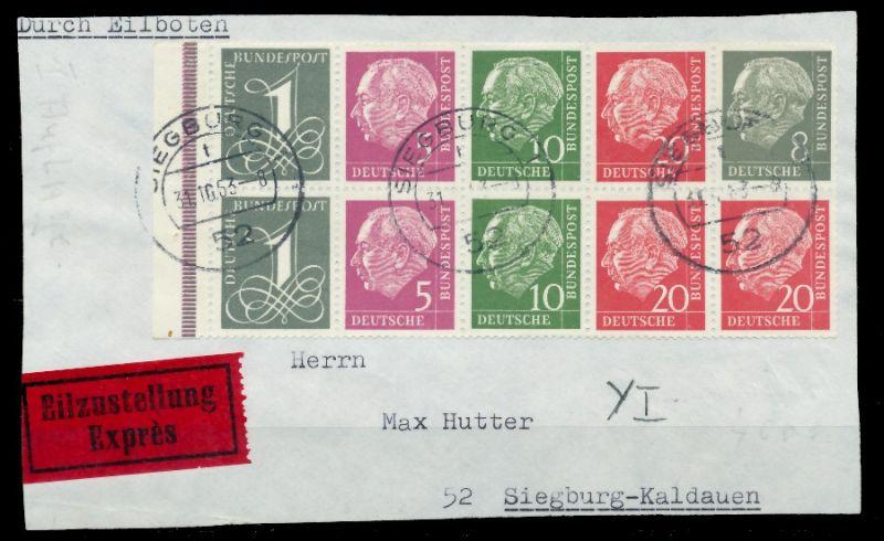 BRD HB Nr H-Blatt 8YI zentrisch gestempelt Briefst³ck ATTEST 81AE06