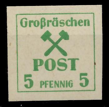 LOKAL-AUSG 1945 GROSSRÄSCHEN Nr 33x postfrisch 81AE3E