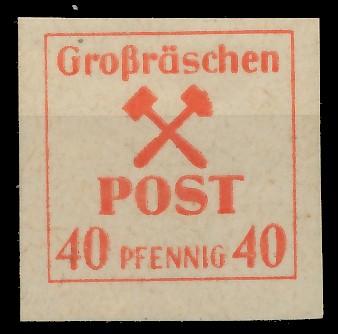 LOKAL-AUSG 1945 GROSSRÄSCHEN Nr 41x postfrisch 81AE5A