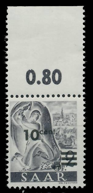 SAARLAND 1947 Nr 226ZII postfrisch ORA 81B036