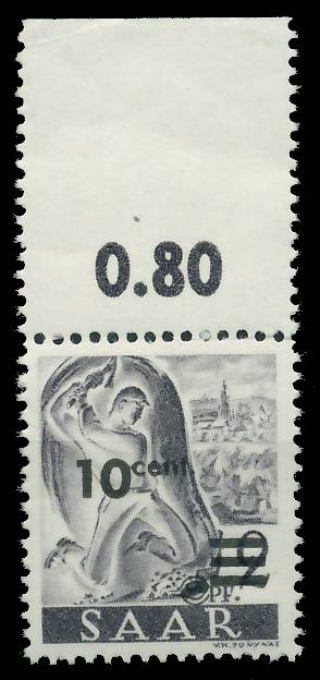 SAARLAND 1947 Nr 226ZII postfrisch ORA 81B04A