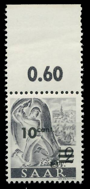 SAARLAND 1947 Nr 226ZII postfrisch ORA 81B04E