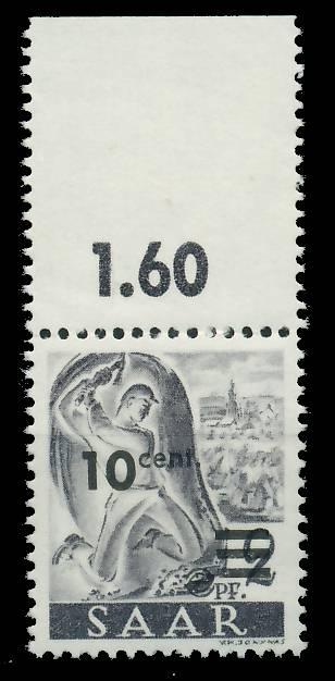 SAARLAND 1947 Nr 226ZII postfrisch ORA 81B056