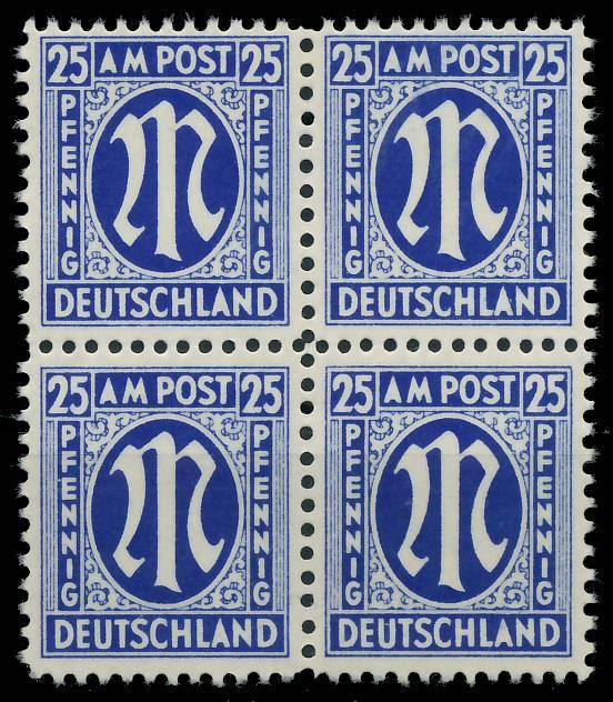 BIZONE AM-POST Nr 28Cz postfrisch VIERERBLOCK 81E546