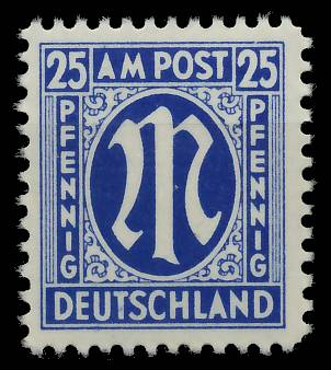 BIZONE AM-POST Nr 28Cz postfrisch 81E55E