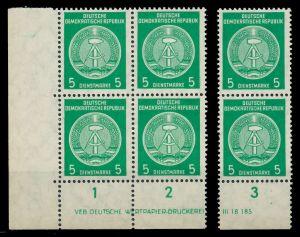 DDR VERWALTUNGSPOST B Nr 34yBY postfrisch VIERERBLOCK S 8222BE