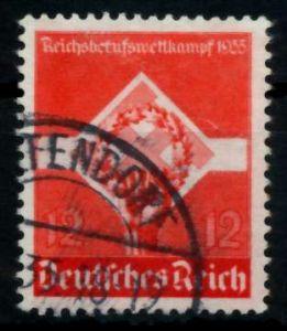 3. REICH 1935 Nr 572y gestempelt gepr. 7295A6