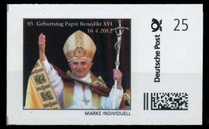 BRD PRIVATPOST Nr Papst Benedikt postfrisch S6A1CEA