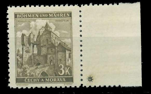 BÖHMEN MÄHREN 1941 Nr 72aPlSt1R postfrisch 828662