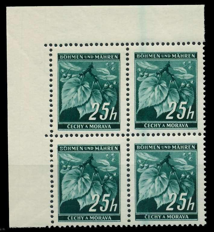 BÖHMEN MÄHREN 1939-1940 Nr 23 postfrisch VIERERBLOCK EC 828876