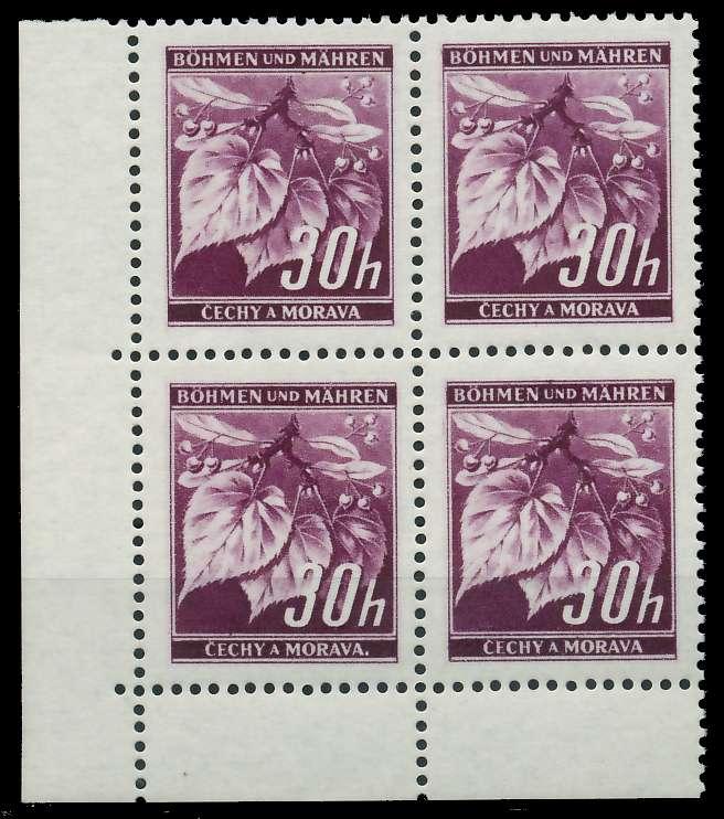 BÖHMEN MÄHREN 1939-1940 Nr 24 postfrisch VIERERBLOCK EC 82889A