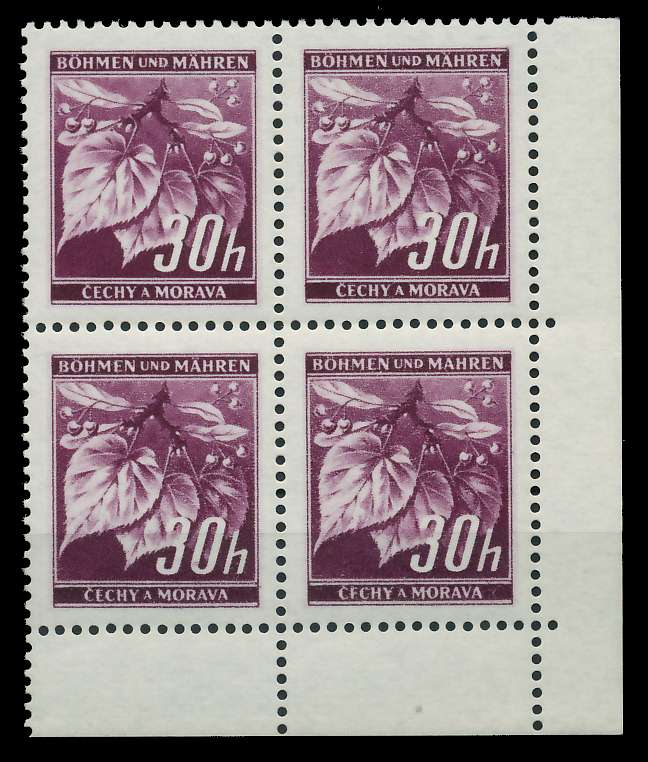 BÖHMEN MÄHREN 1939-1940 Nr 24 postfrisch VIERERBLOCK EC 82889E