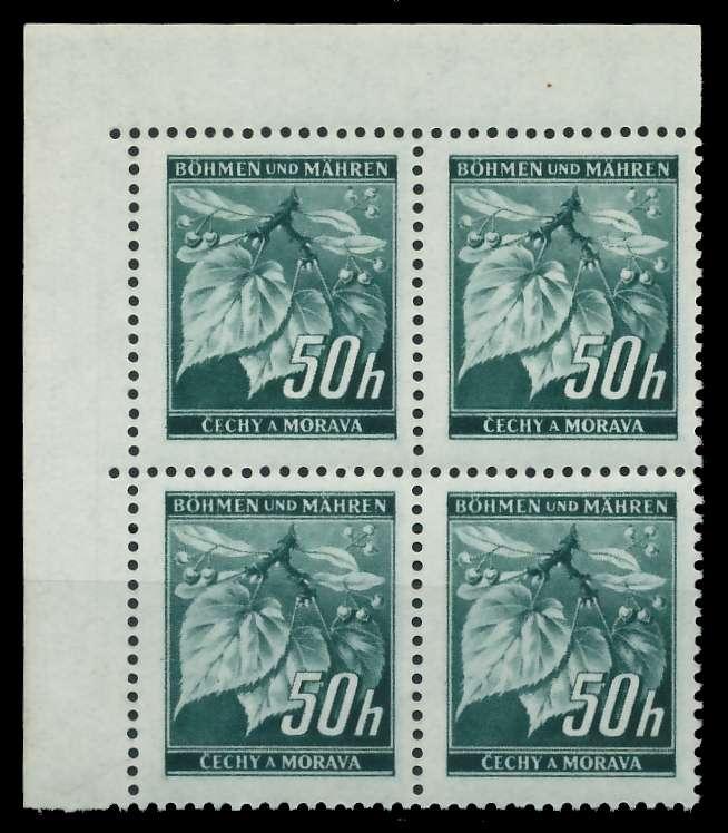 BÖHMEN MÄHREN 1939-1940 Nr 55 postfrisch VIERERBLOCK EC 8288A2