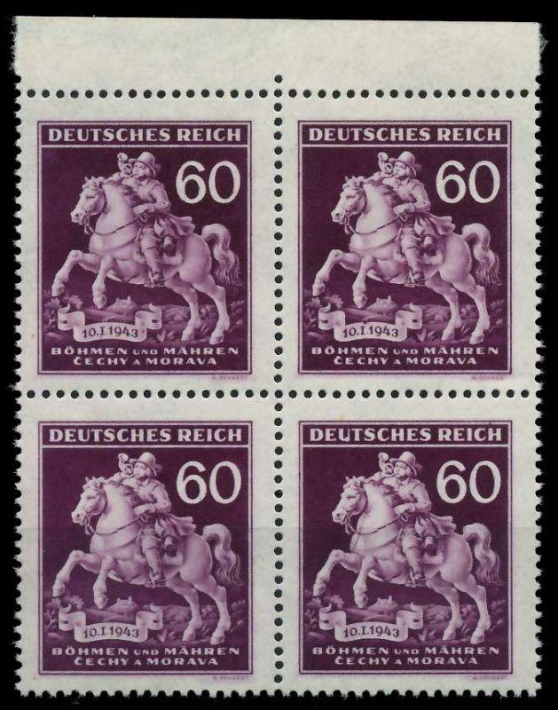 BÖHMEN MÄHREN 1943 Nr 113VI + 113 postfrisch VIERERBLOC 82AC3A