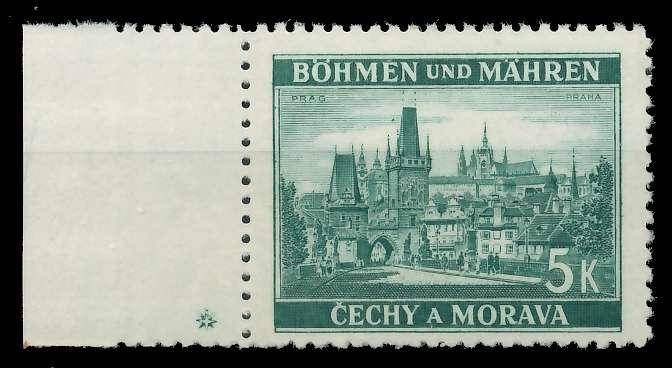 BÖHMEN MÄHREN 1939-1940 Nr 35PlSt1L postfrisch 82ACC6