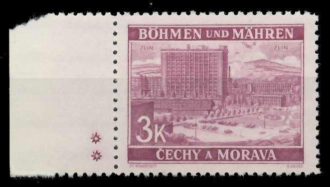 BÖHMEN MÄHREN 1939-1940 Nr 33bPlSt2L postfrisch 82ACCE