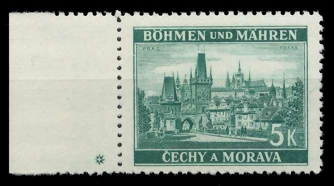 BÖHMEN MÄHREN 1939-1940 Nr 35PlSt1L postfrisch 82ACD2