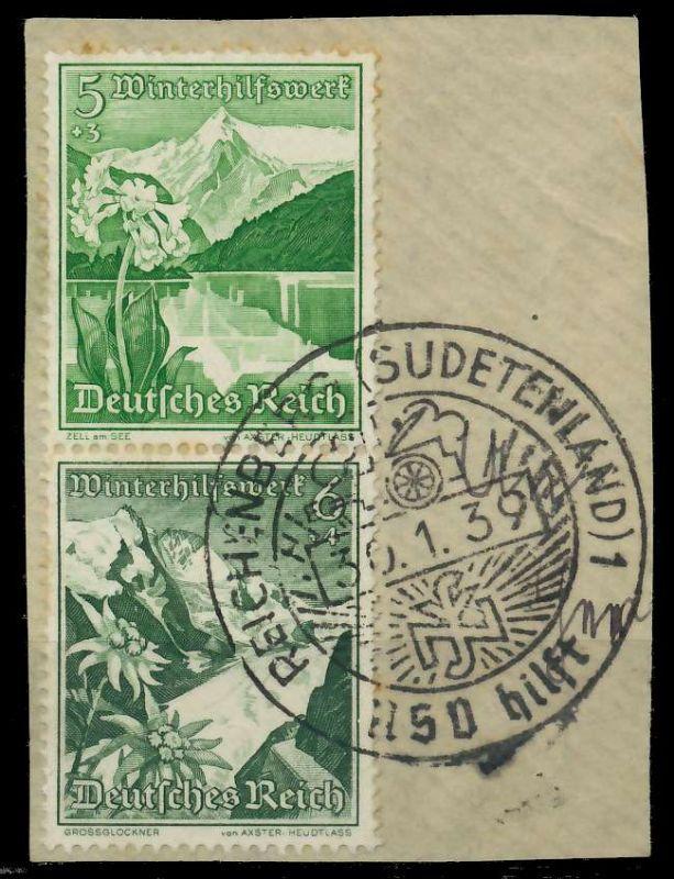 D-REICH ZUSAMMENDRUCK Nr S247 SENKR PAAR Briefst³ck 82ACF6