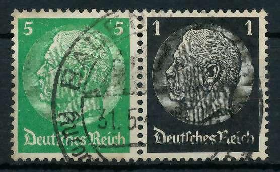 D-REICH ZUSAMMENDRUCK Nr W59 gestempelt WAAGR PAAR 82ADCE