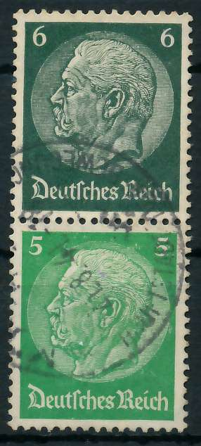 D-REICH ZUSAMMENDRUCK Nr S189 gestempelt SENKR PAAR 82ADD2