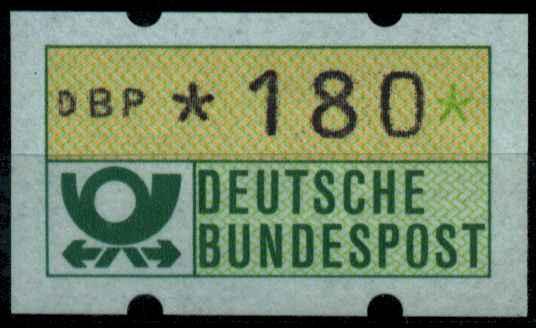 BRD ATM 1981 Nr 1-1-180R postfrisch S2E309E