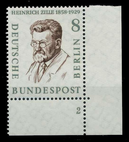 BERLIN 1957 Nr 164 postfrisch FORMNUMMER 2 82F01A
