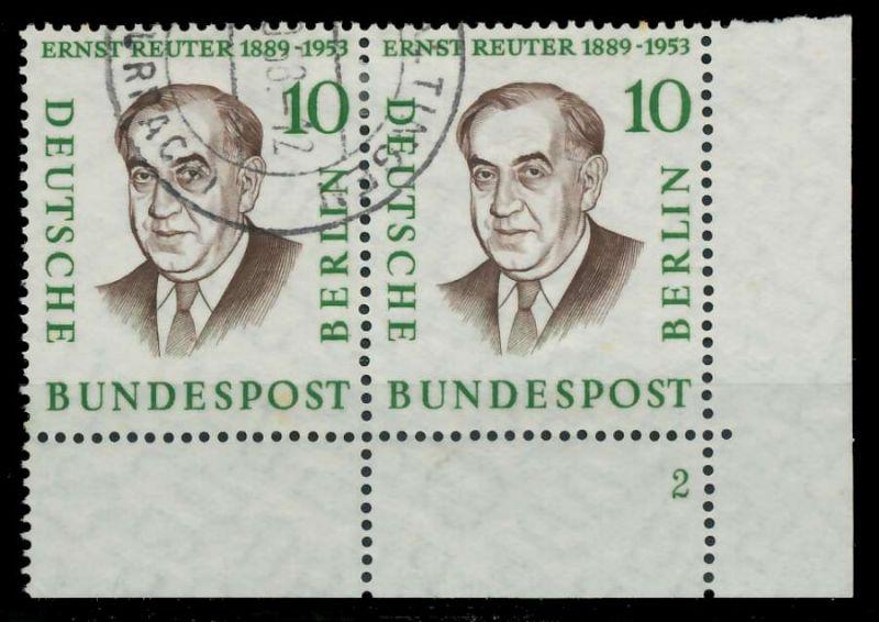 BERLIN 1957 Nr 165 gestempelt WAAGR PAAR FORMNUMMER 2 82F026