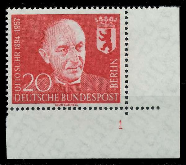 BERLIN 1958 Nr 181 postfrisch FORMNUMMER 1 82F02A