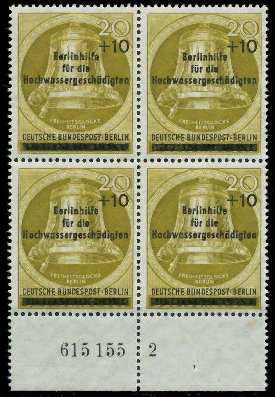 BERLIN 1956 Nr 155 HAN 615155 2 ungebraucht VIERERBLOCK H 82F086