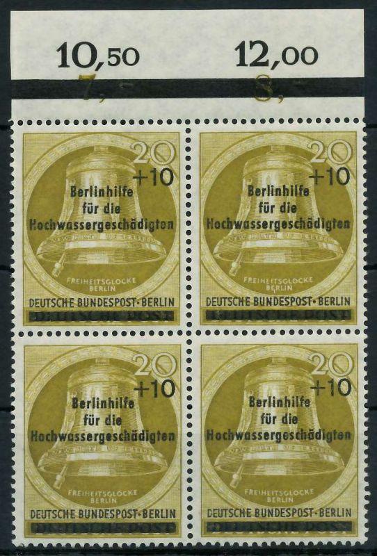 BERLIN 1956 Nr 155 postfrisch VIERERBLOCK ORA 82F08E