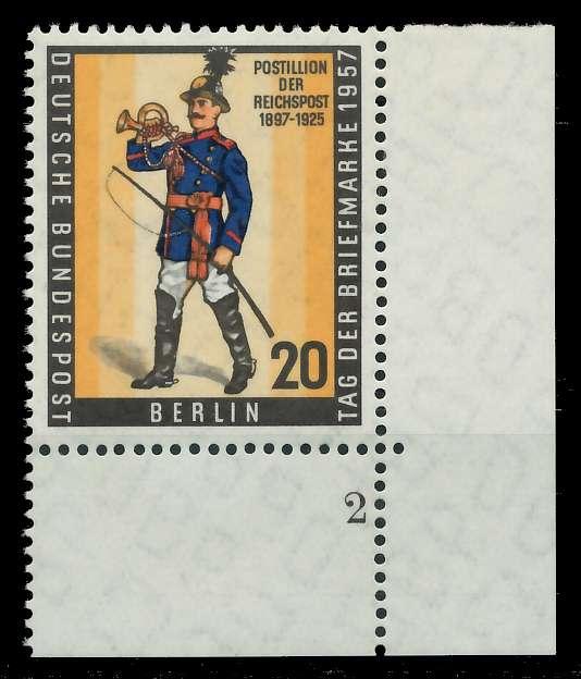 BERLIN 1957 Nr 176 postfrisch FORMNUMMER 2 82F092