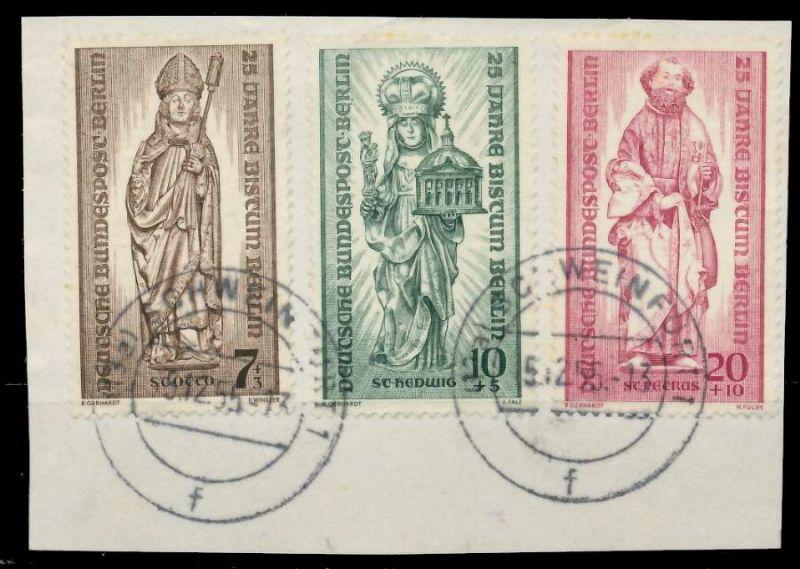 BERLIN 1955 Nr 132-134 zentrisch gestempelt Briefst³ck 82F0B2