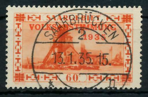 SAARGEBIET 1934 Nr 186 zentrisch gestempelt 83013E